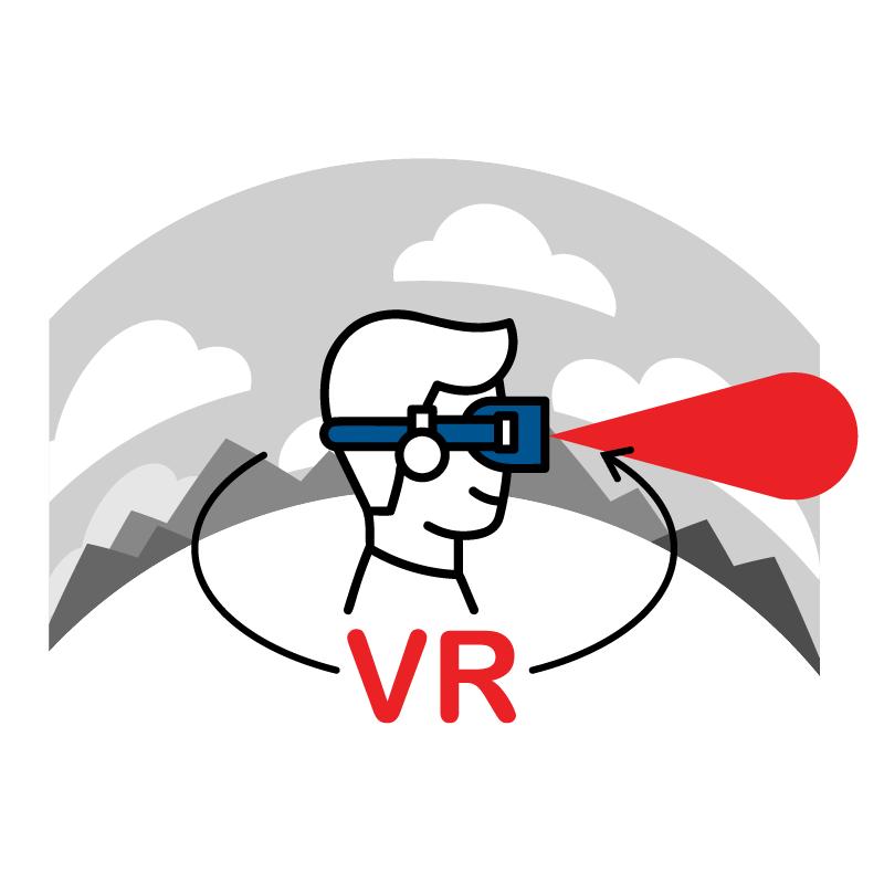 一般規格: 頭戴式VR眼鏡logo圖