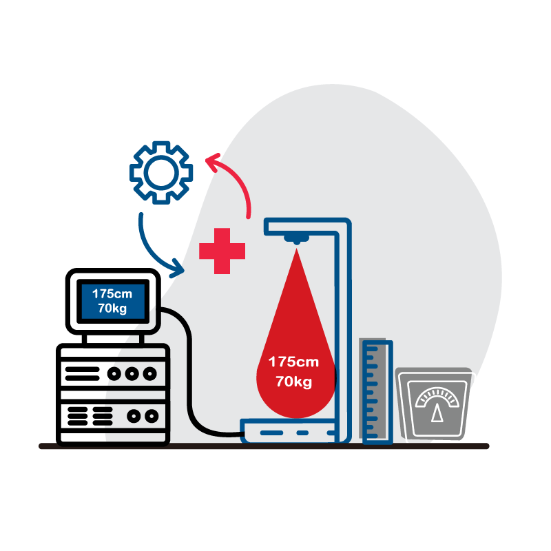 一般規格:健康管理系統-超音波身高體重計logo圖