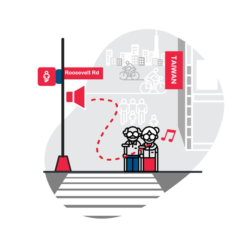 一般規格:交通有聲號誌logo圖