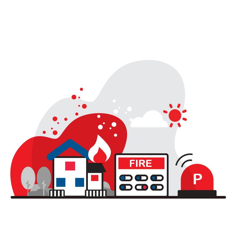 一般規格:防火逃生系統-P型火警受信總機組合方案logo圖
