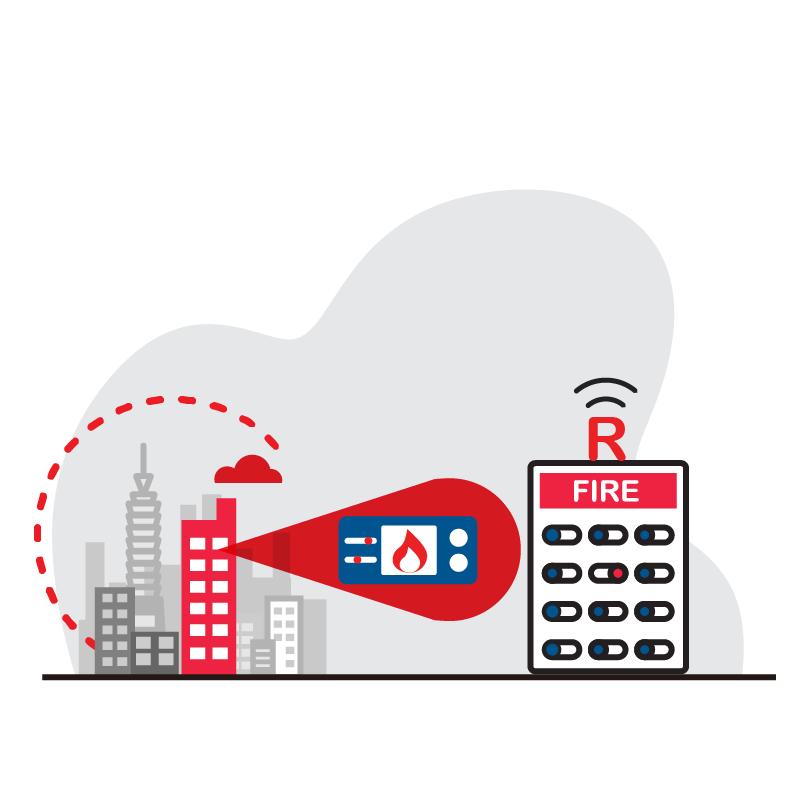 一般規格: 防火逃生系統-R型火警受信總機組合方案logo圖