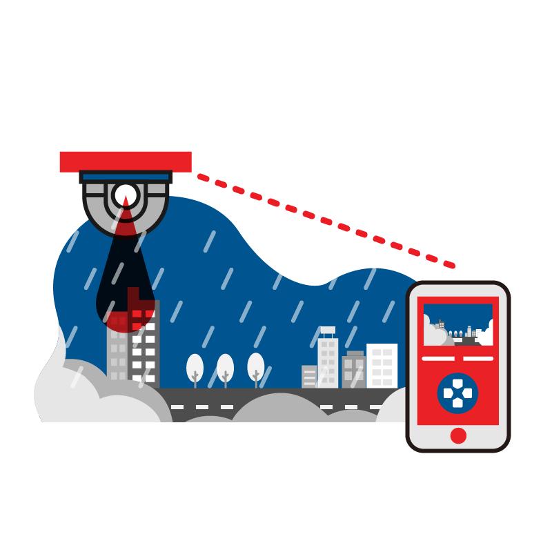 一般規格:機動部署影像示警系統-防水型遠距遙控攝影機logo圖