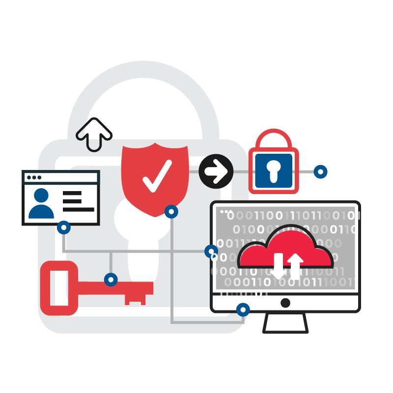 一般規格:資安加密認證鎖logo圖