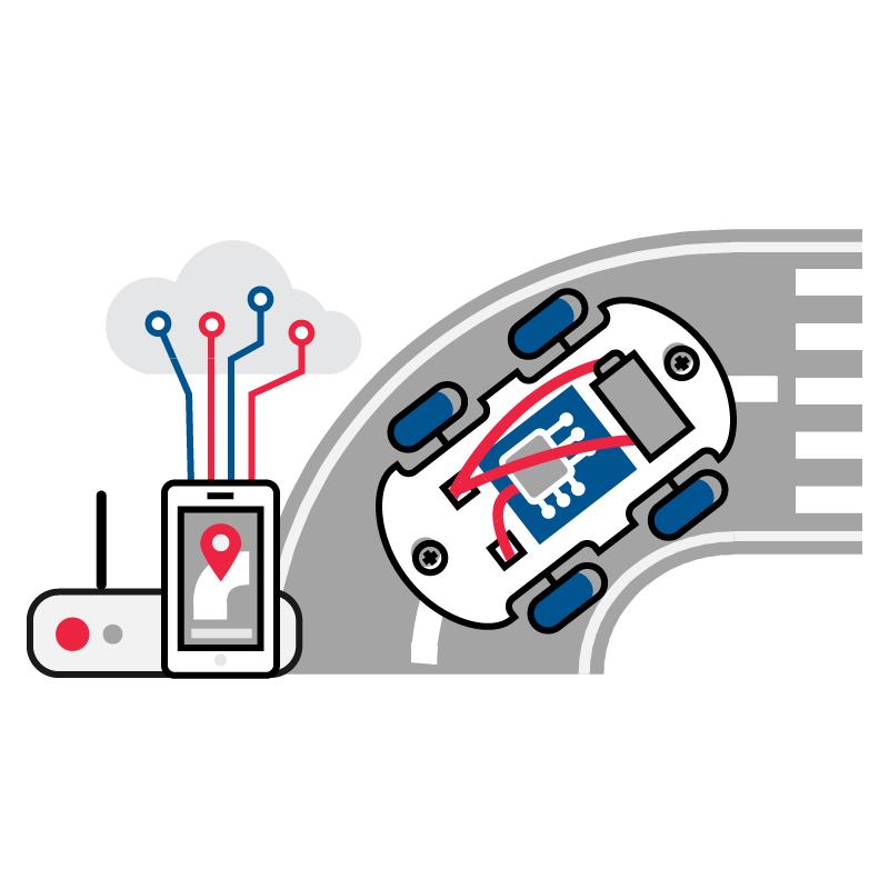一般規格:科技領域教材-物聯網自走車logo圖
