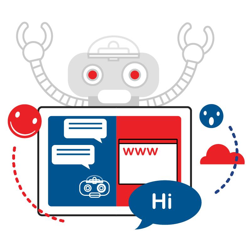 一般規格: 人工智慧客服(Chatbot)─官網客服logo圖