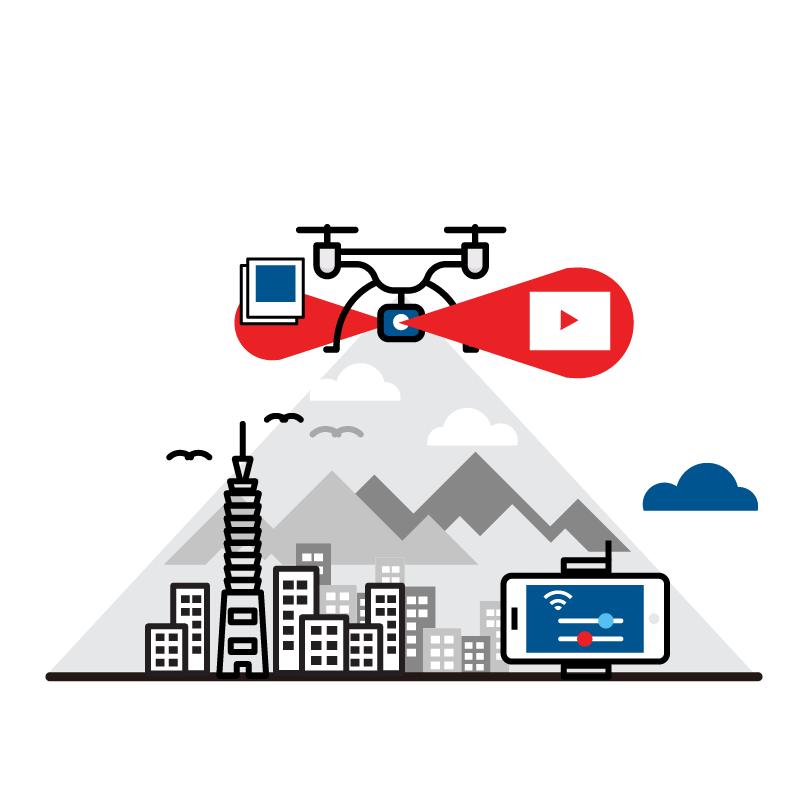 一般規格: 無人機應用-空拍服務(空拍照片/影片服務)logo圖