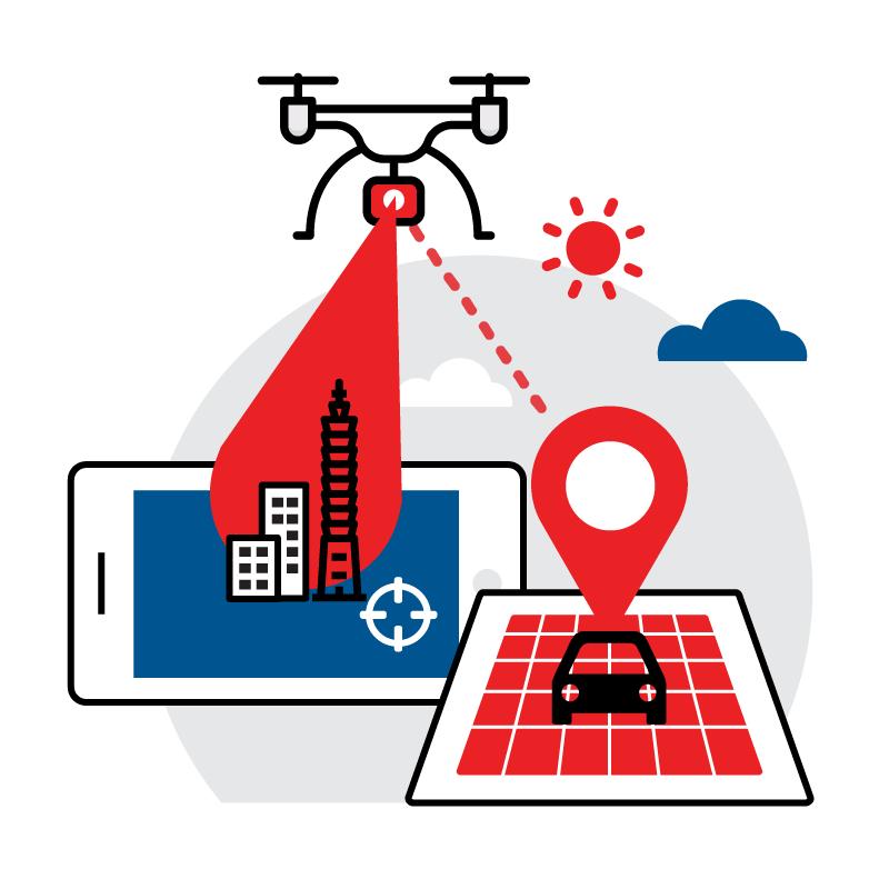 一般規格: 無人機應用-空拍服務(影像座標精準定位)logo圖